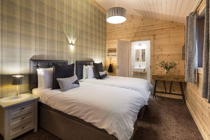 Luxury king size bed in our Swaledale Lodge with en-suite