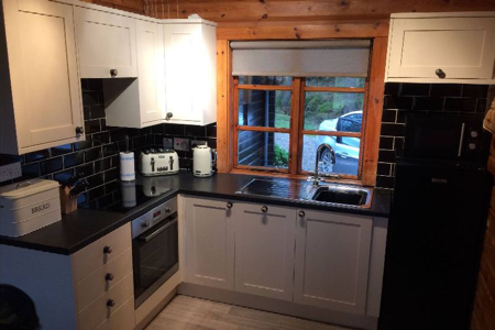 Lovely new kitchen in Lapwing Lodge